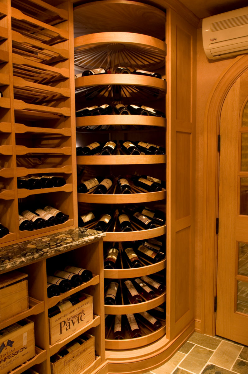 corner wine storage solution
